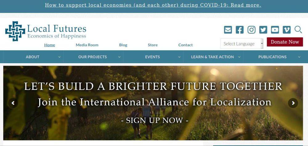 Local Futures. Economics of Happiness