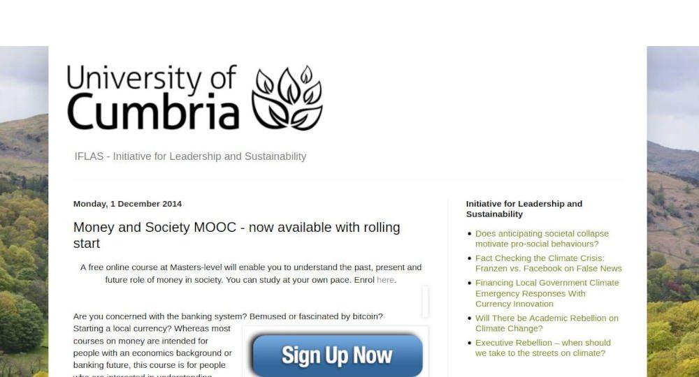 Money and Society MOOC